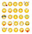 smile face icons vector image