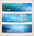 Blue rain banners Abstract water background design vector image vector image