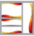 Template card orange element design vector image