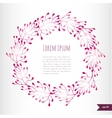 Romantic floral background with place for your vector image