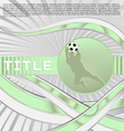 dynamic sport series soccer vector image