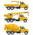 cargo truck 24 vector image
