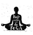 black girl yoga with text vector image