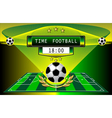 football timer vector image vector image