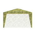 Military tent on a white background vector image vector image