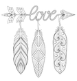 Bohemian Arrow Hand drawn Amulet wih word Love vector image