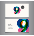 business card with number 9 vector image