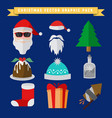 christmas related graphic package set vector image