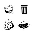 cleaning simple related icons vector image