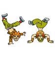 Couple breakdancers vector image