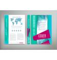 green template cover flyer brochure book report bu vector image