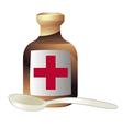 medicine and a spoon vector image