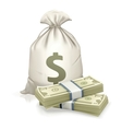 Sack and money vector image