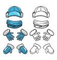 set of winter accessories vector image