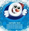 snowman card vector image