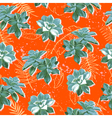Summer colorful seamless pattern with plants vector image