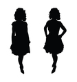 woman pretty silhouette vector image