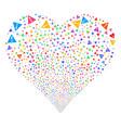 warning fireworks heart vector image