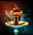 hookah hot coals vector image