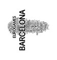 Barcelona spain so much fun in one day text vector image