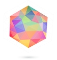 colorful icosahedron for graphic design vector image vector image