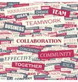 COLLABORATION vector image vector image
