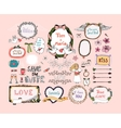 Hand drawn design elements for wedding invitations vector image vector image