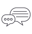 round chats line icon sign vector image
