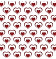 seamless pattern decoration hearts love design vector image