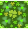 Seamless texture of the four leaf clover vector image