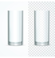 Transparent Glass Set vector image