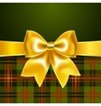 Background with yellow ribbon bow vector image