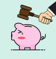 smashed piggy bank vector image