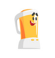 funny kitchen blender character with smiling face vector image
