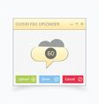 Cloud file uploader vector image