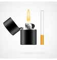Lighter and cigarette vector image