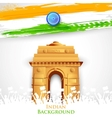 Indian Gate vector image vector image