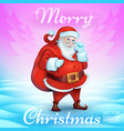 3d realistic santa claus cartoon cute character vector image