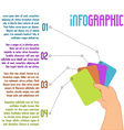 infographic design with four steps vector image