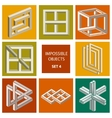 Impossible objects Set 4 vector image