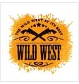 Wild west vintage artwork for boy wear on vector image