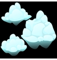 Three snow blocks ice iceberg vector image