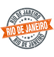 Rio De Janeiro red round grunge vintage ribbon vector image