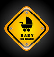 baby on board design vector image