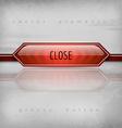 Close Button vector image