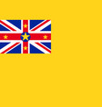 flag of niue vector image