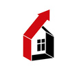 Growth trend of real estate industry Simple house vector image