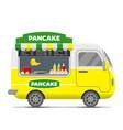 pancake street food caravan trailer vector image