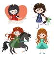 Princess collection isolated on white background vector image