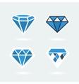 Set of symbols diamond vector image